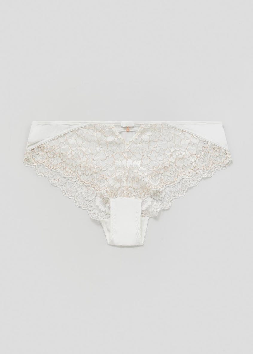 Metallised Embroidered Short Knickers