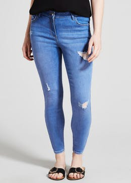 Papaya Petite April Distressed Super Skinny Jeans
