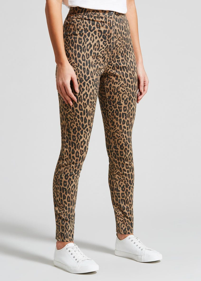 Jessie Animal Print High Waisted Jeans