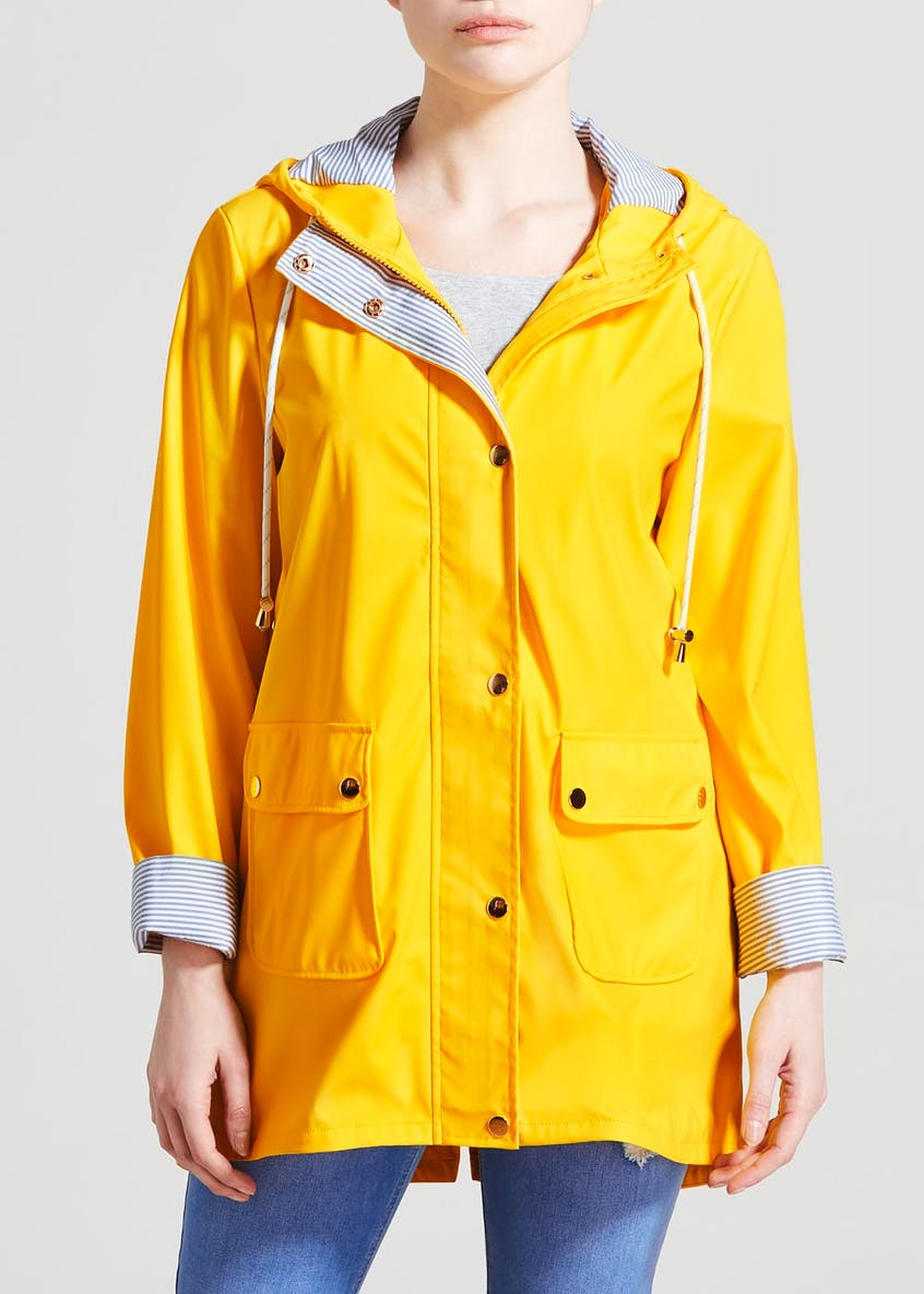 Papaya Petite Hooded Rain Mac