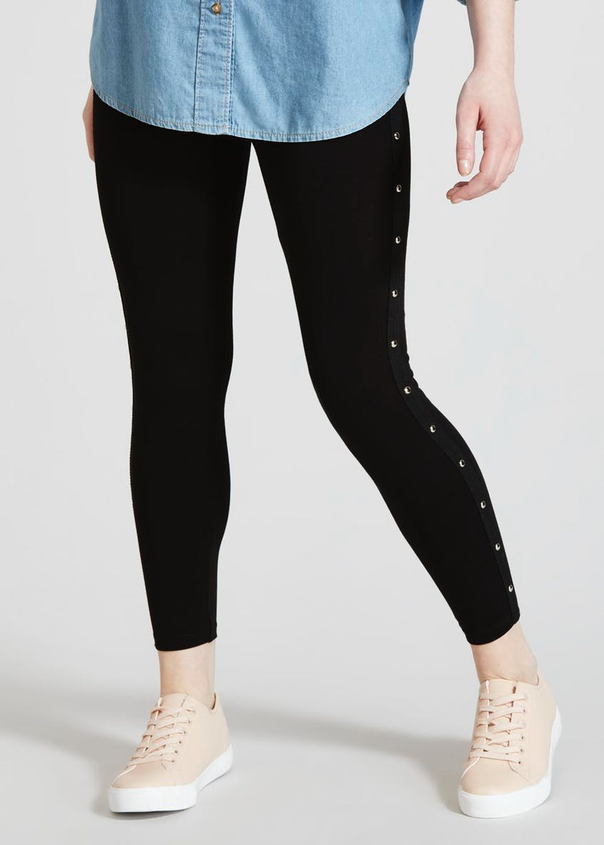 Papaya Petite Studded Side Stripe Leggings