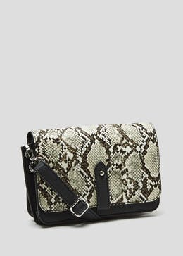 031aa6014e2f Faux Snake Skin Eyelet Edge Cross-Body Bag