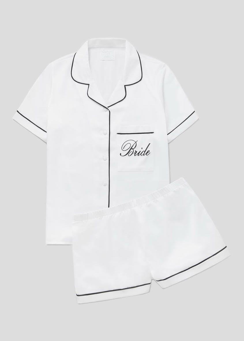 Bride Slogan Short Satin Pyjamas