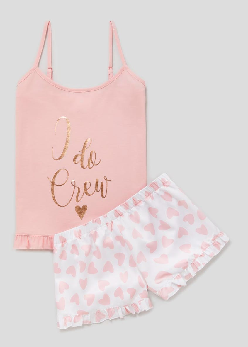 I Do Crew Slogan Cami Pyjama Set