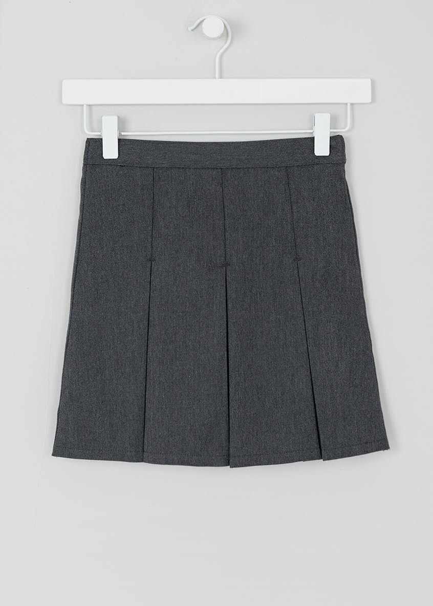 Girls Generous Fit Box Pleat School Skirt (3-16yrs)