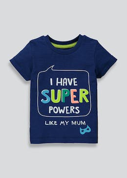 Kids Super Powers Slogan T-Shirt (9mths-6yrs)