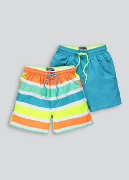 Boys 2 Pack Swim Shorts (4-13yrs)