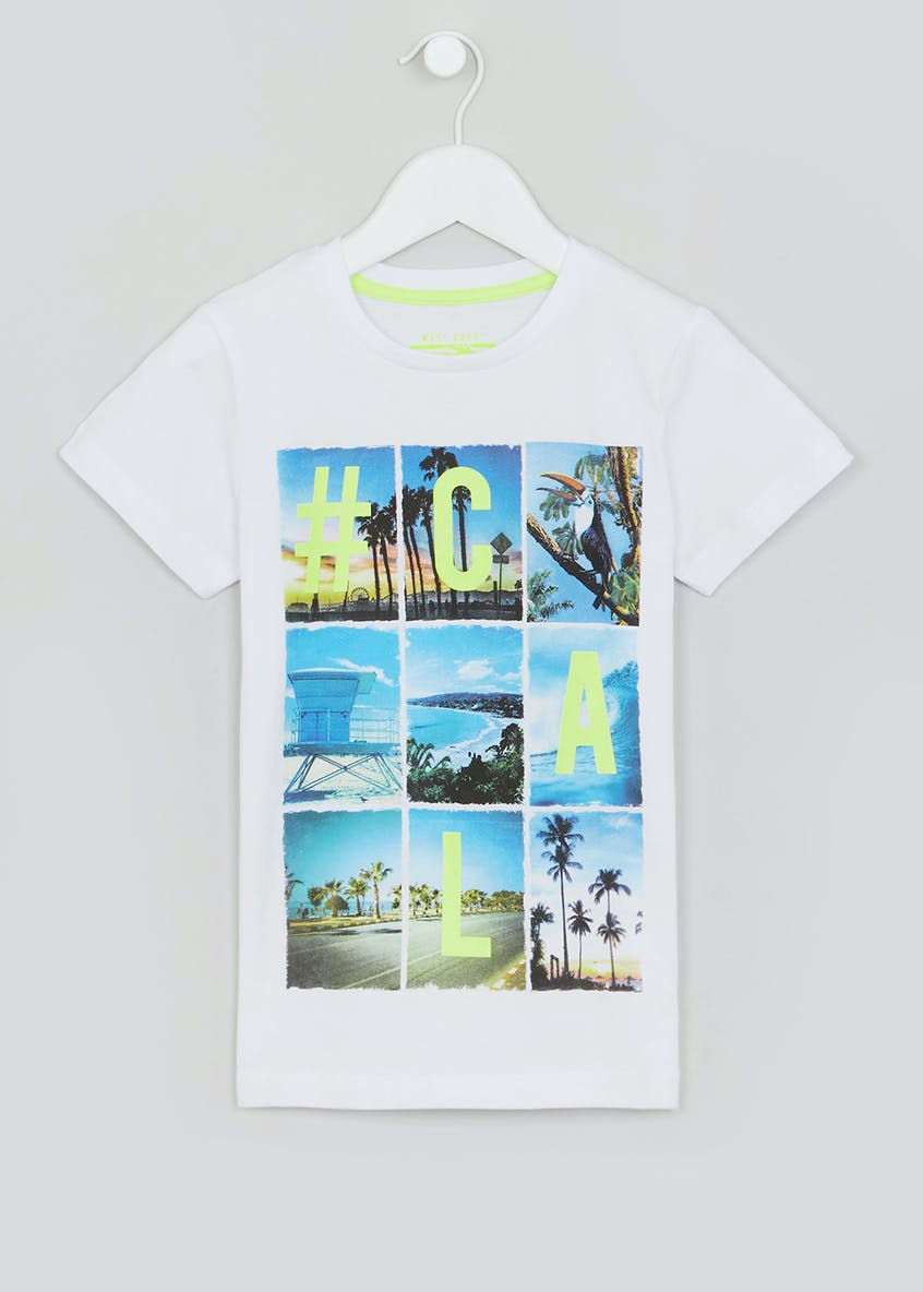 Boys California Printed T-Shirt (4-13yrs)