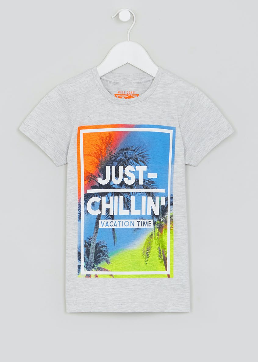 Kids Just Chillin Slogan T-Shirt (4-13yrs)