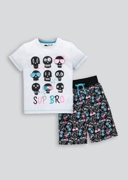 Kids Skull Short Pyjama Set (4-13yrs)