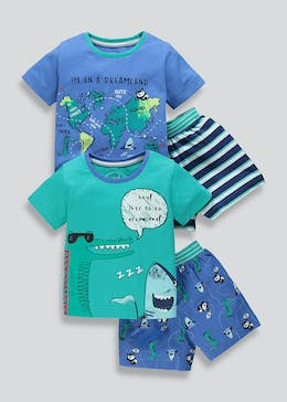 Kids 2 Pack Surfari Short Pyjamas (9mths-5yrs)