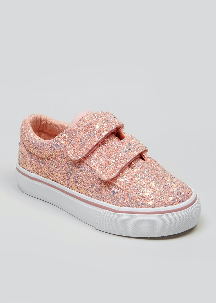 Girls Glitter Riptape Trainers (Younger 4-9)