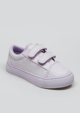 Kids Riptape Glitter Canvas Trainers (Younger 4-9)