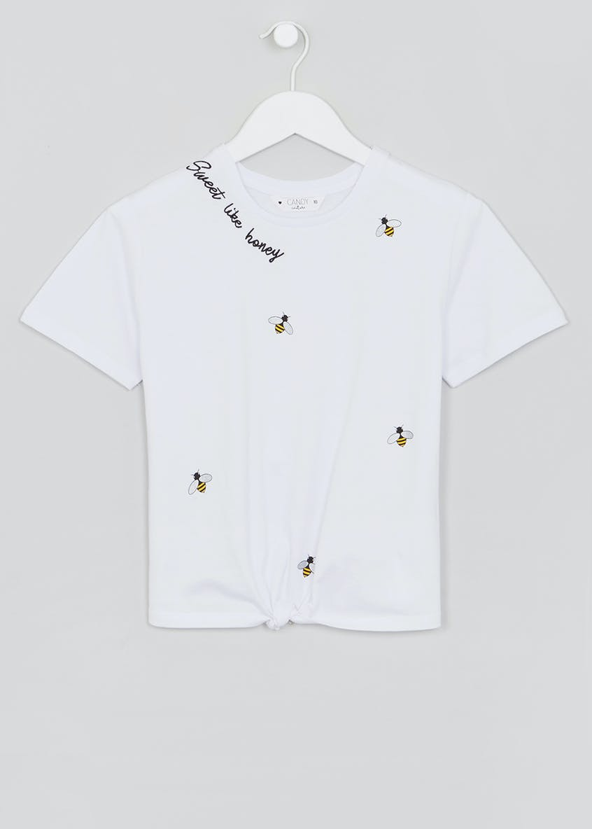 Girls Candy Couture Embroidered Bee T-Shirt (9-16yrs)