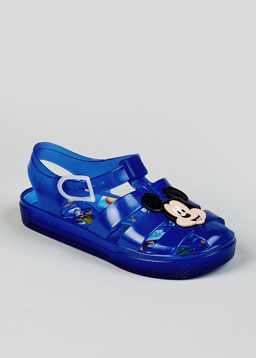 ae4aaba3b Kids Disney Mickey Mouse Jelly Shoes (Younger 4-12) – Blue – Matalan