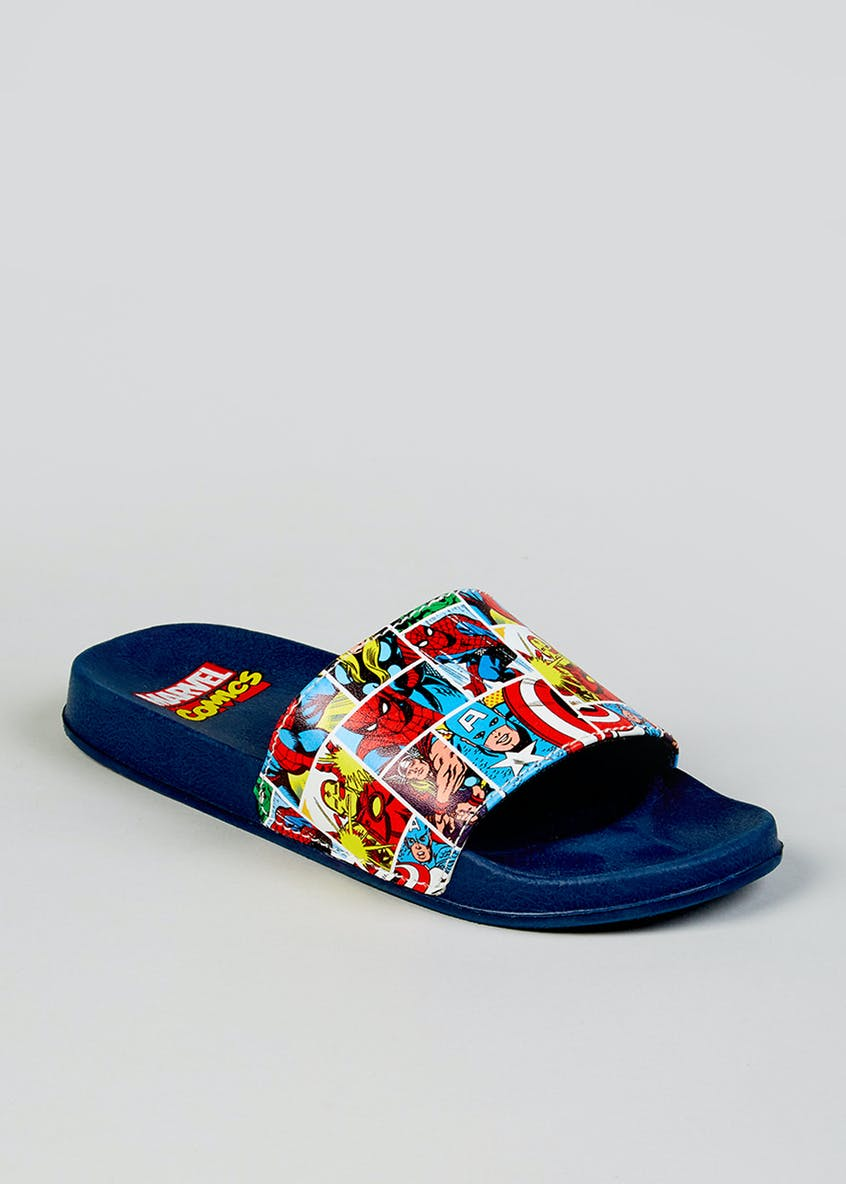Kids Marvel Avengers Sliders (Younger 10-Older 6)