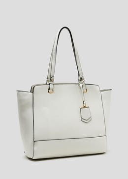 Curved Double Tab Tote Bag
