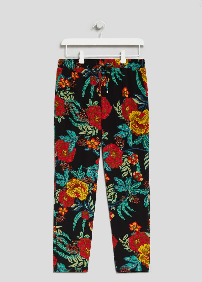 Papaya Petite Floral Tapered Trousers