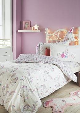 Kids 100% Cotton Unicorn Duvet Cover