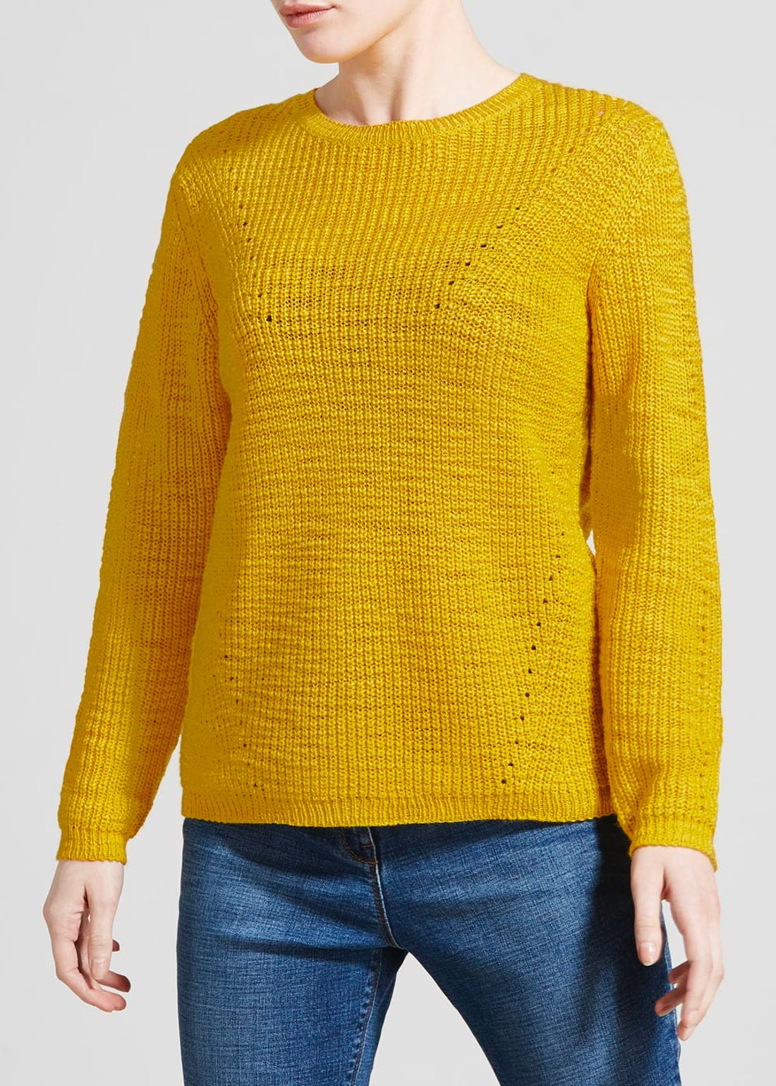 Papaya Petite Slub Pointelle Jumper