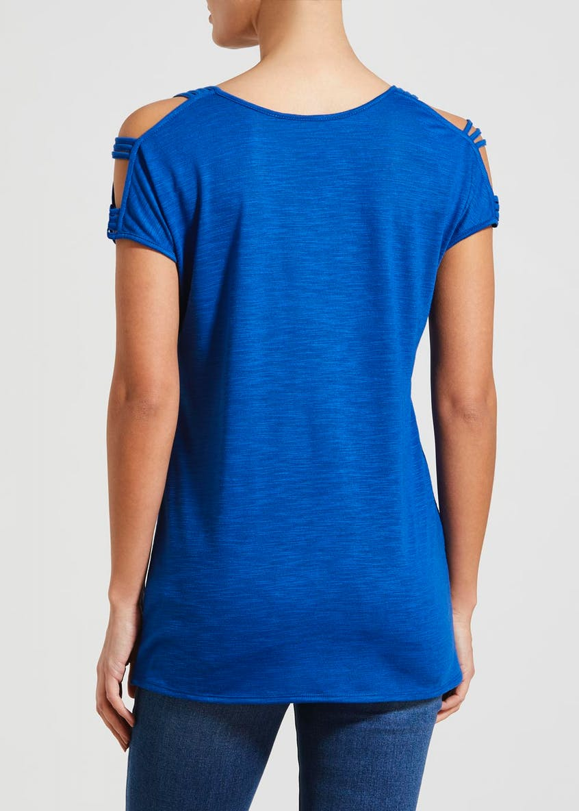 Cold Shoulder Longline T-Shirt