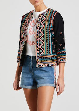 5ea52b636a8f8 Falmer Festival Embroidered Cropped Jacket
