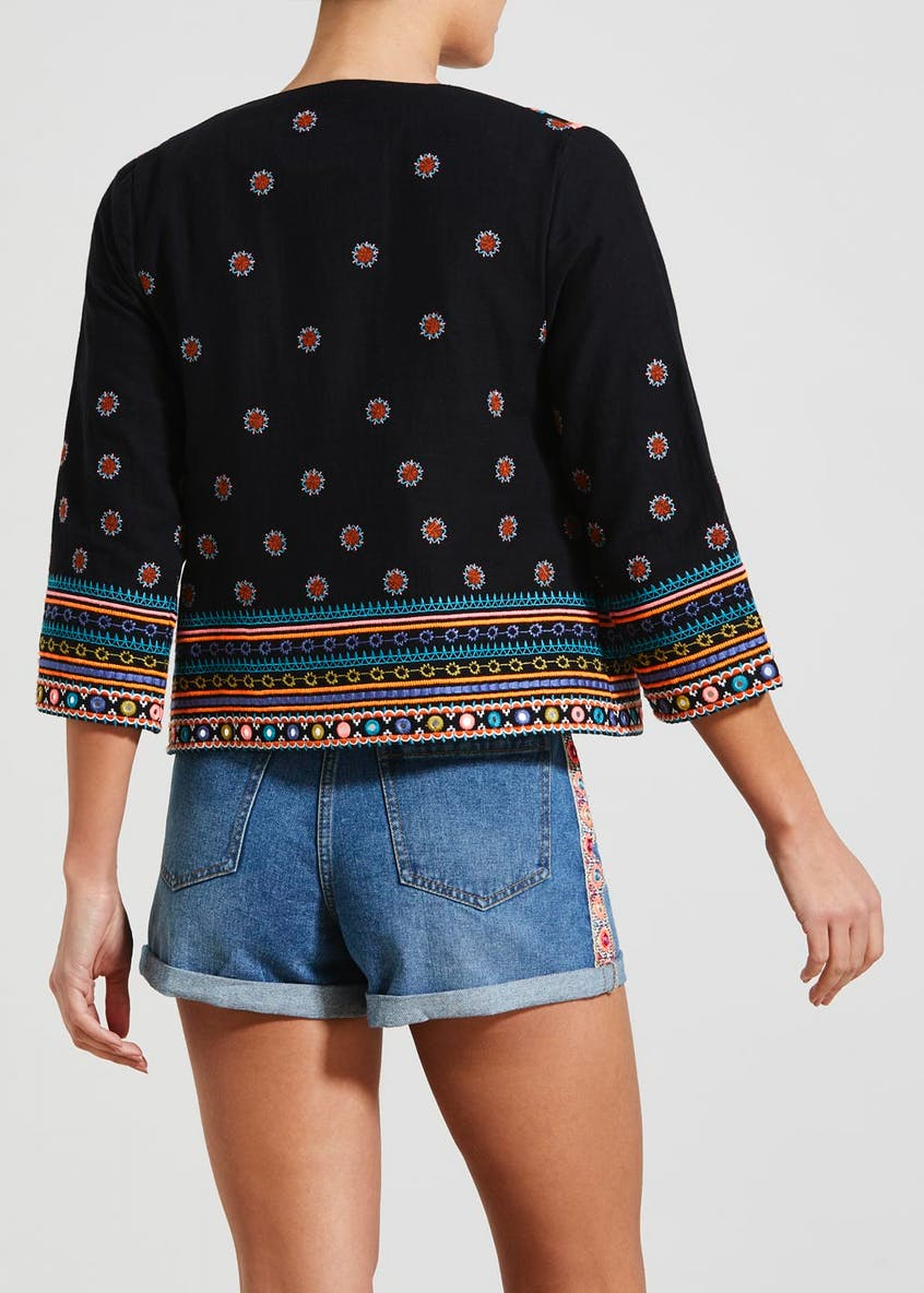 Falmer Festival Embroidered Cropped Jacket