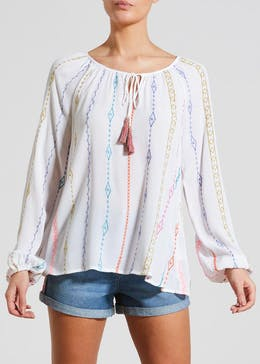 Falmer Aztec Embroidered Blouse
