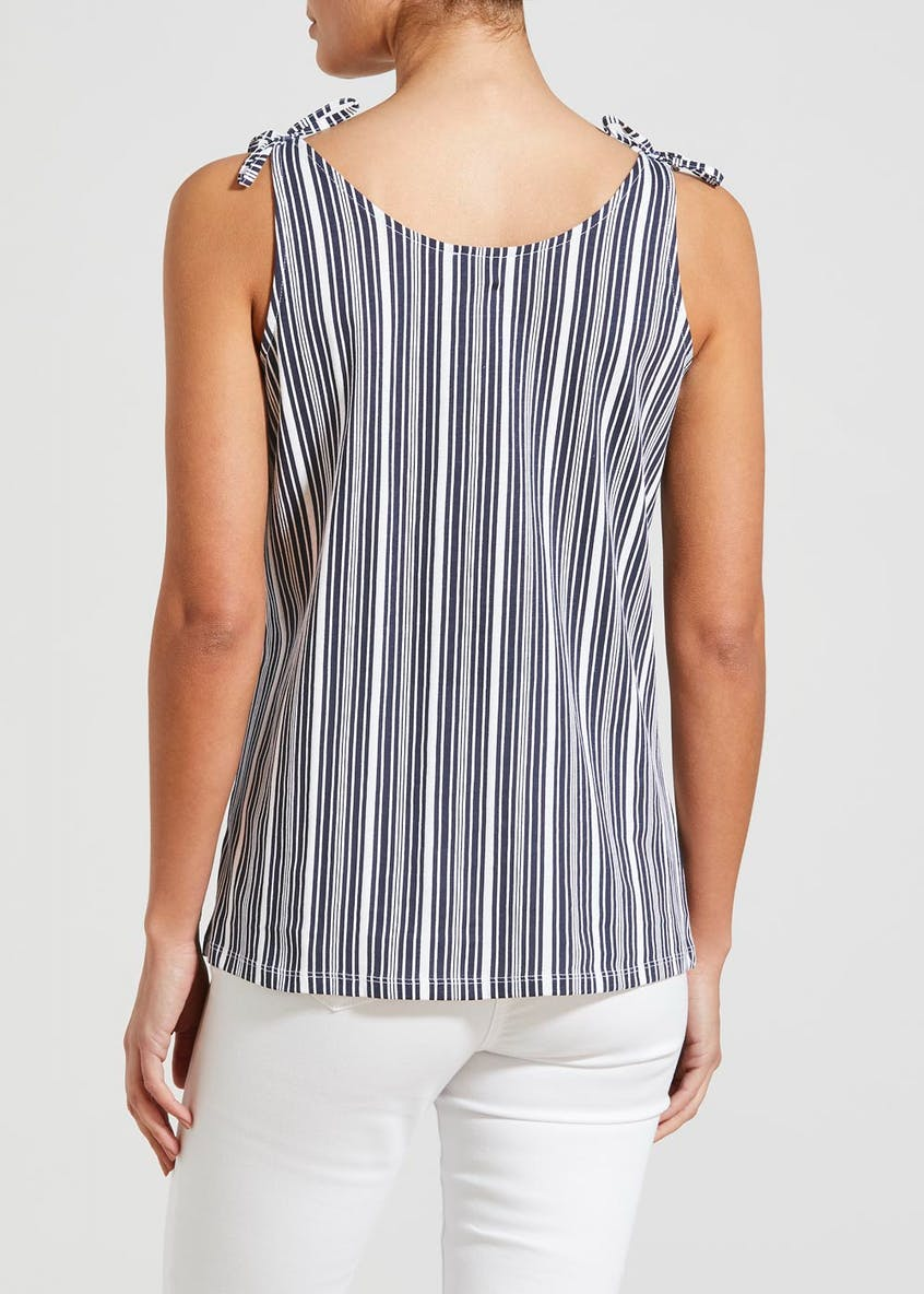 Stripe Button Front Vest