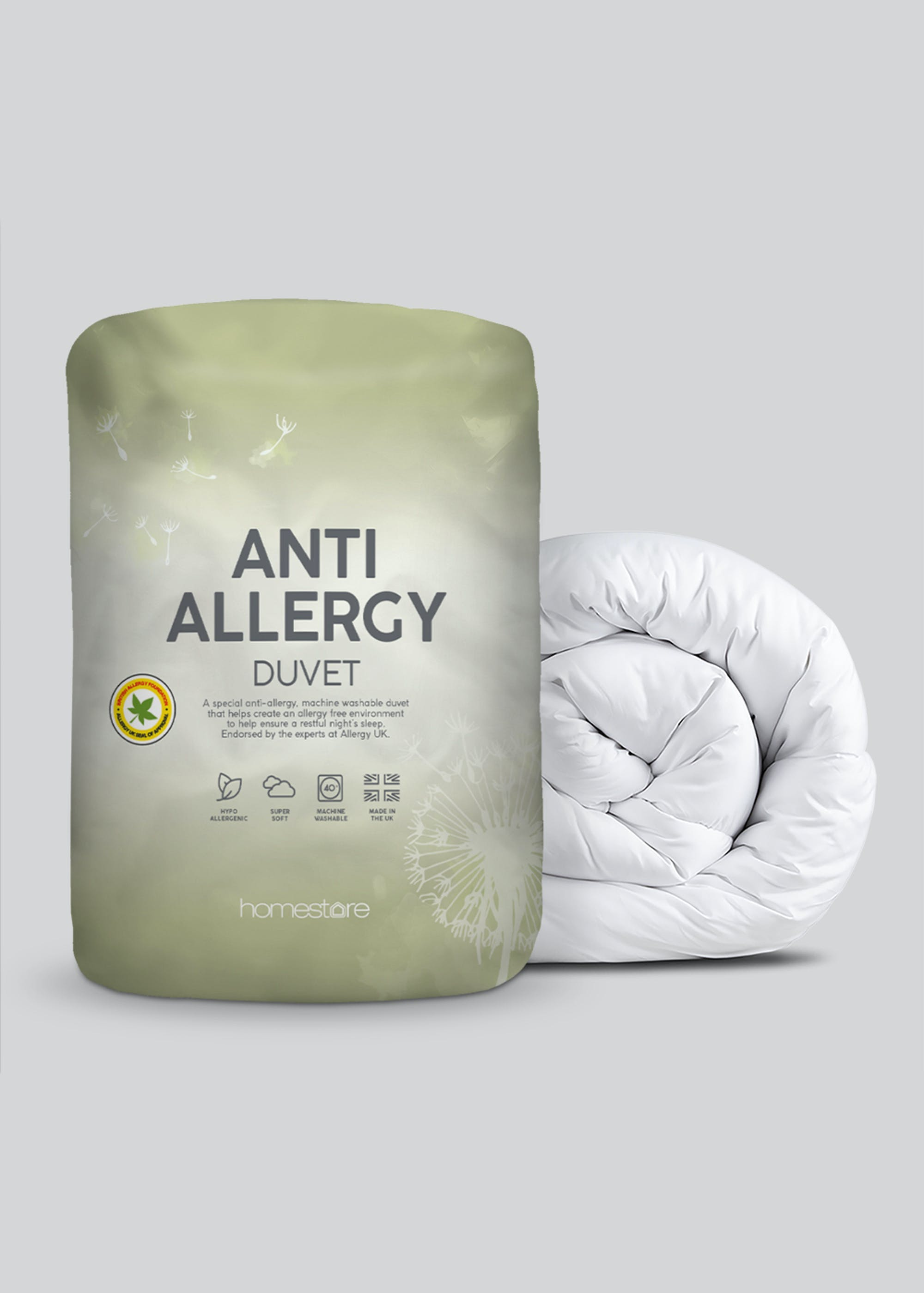 Anti Allergy Duvet (10.5 Tog) White rYRz4U