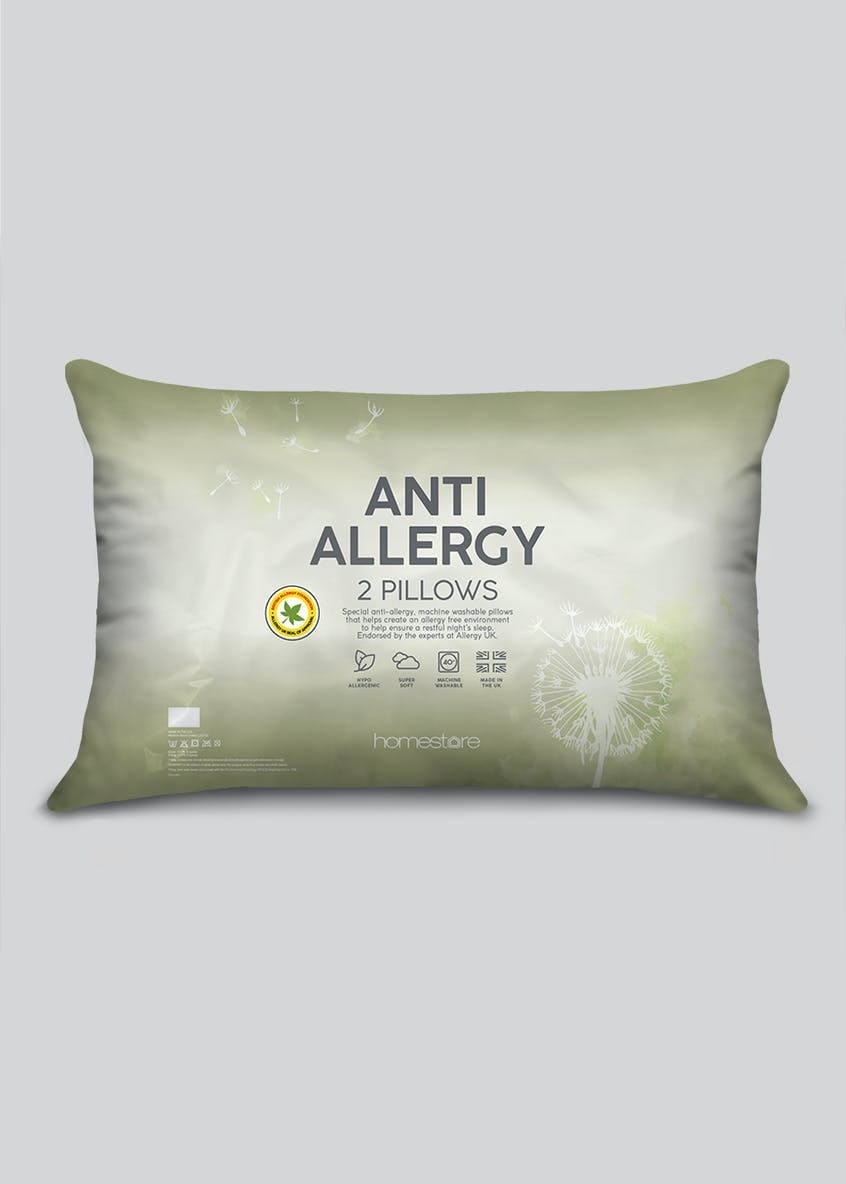 Anti Allergy Medium Firm Pillow Pair