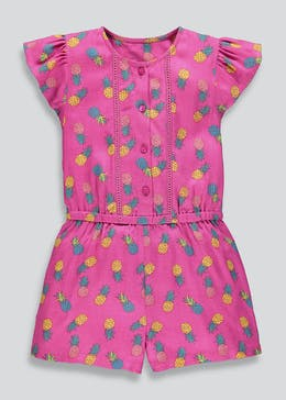 Girls Pineapple Woven Playsuit (9mths-6yrs)