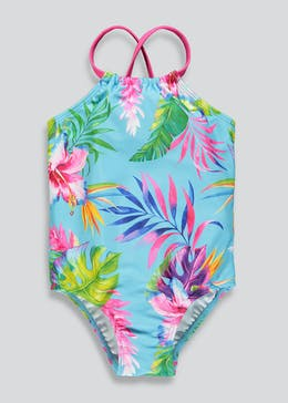 ae55c835ab3 Girls Tropical Floral Swimming Costume (3mths-6yrs)