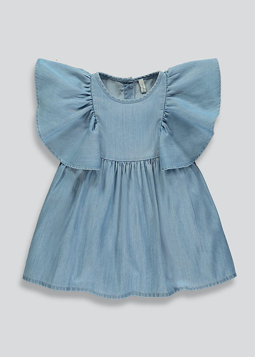 Girls Angel Sleeve Denim Dress (9mths-6yrs)
