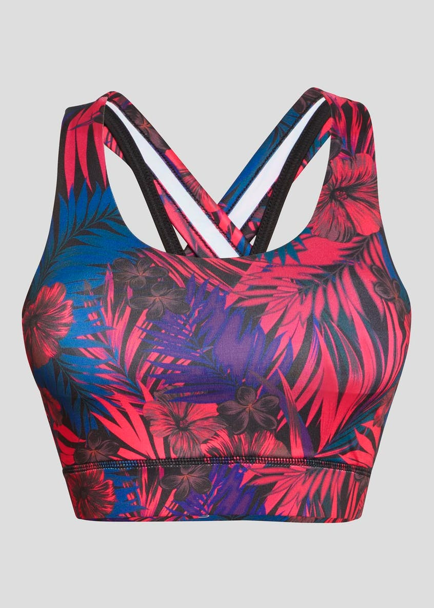 Souluxe Tropical Print Sports Crop Top