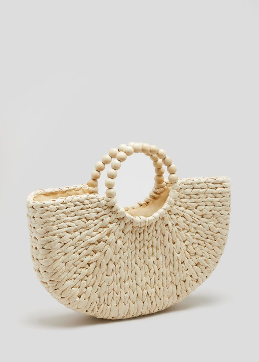 Moon Straw Basket Bag