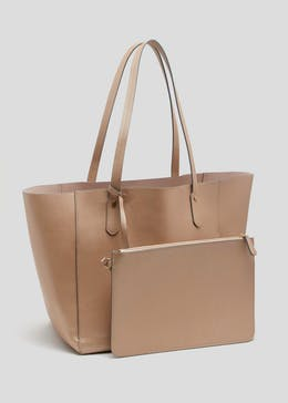 Metallic Tote Bag with Pouch