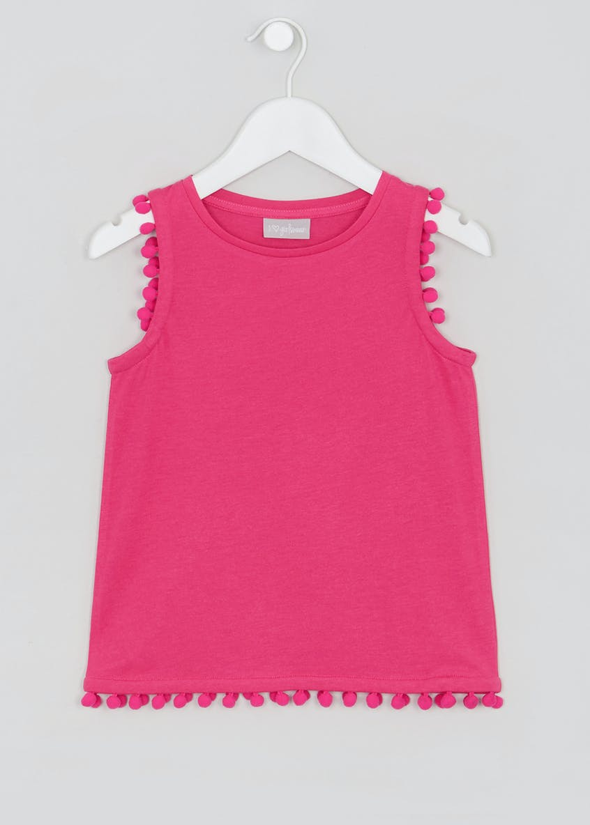 Girls Pom Pom Vest (4-13yrs)