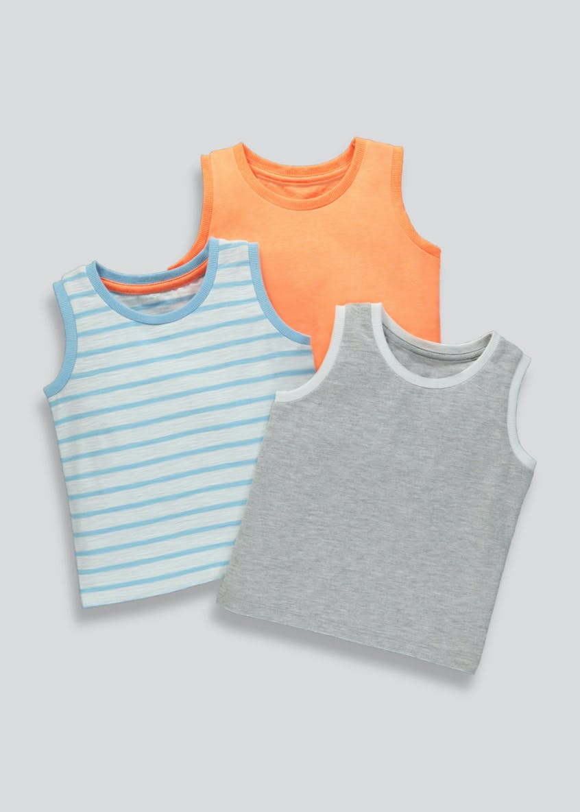 Boys 3 Pack Vests (9mths-6yrs)