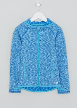 Girls Souluxe Space Dye Zip Through Sports Hoodie (4-13yrs)