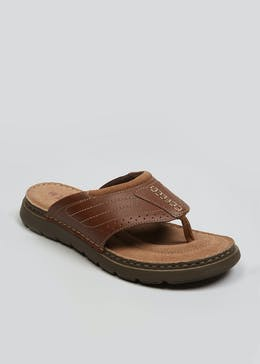 Soleflex Real Leather Toe Post Sandals