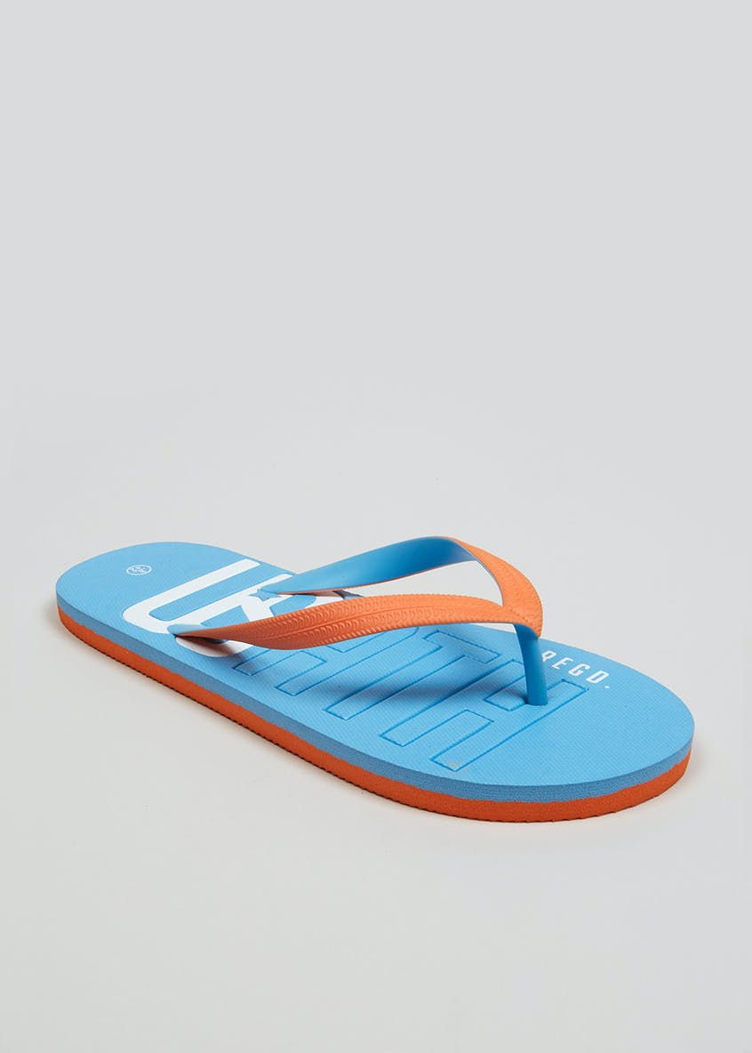 US Athletic Strap Detail Flip Flops
