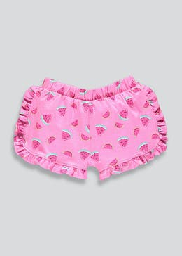 Girls Watermelon Frill Shorts (9mths-6yrs)
