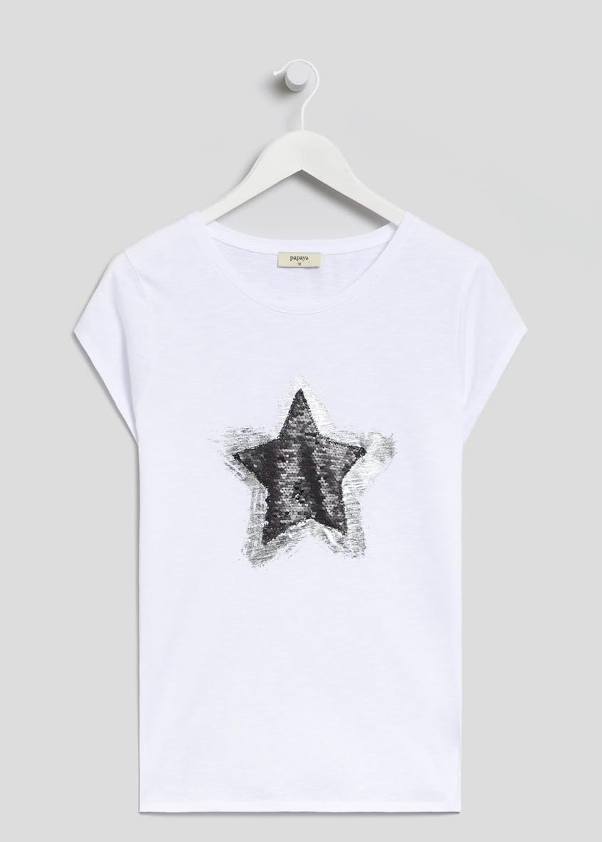 Star Two Tone Sequin T-Shirt