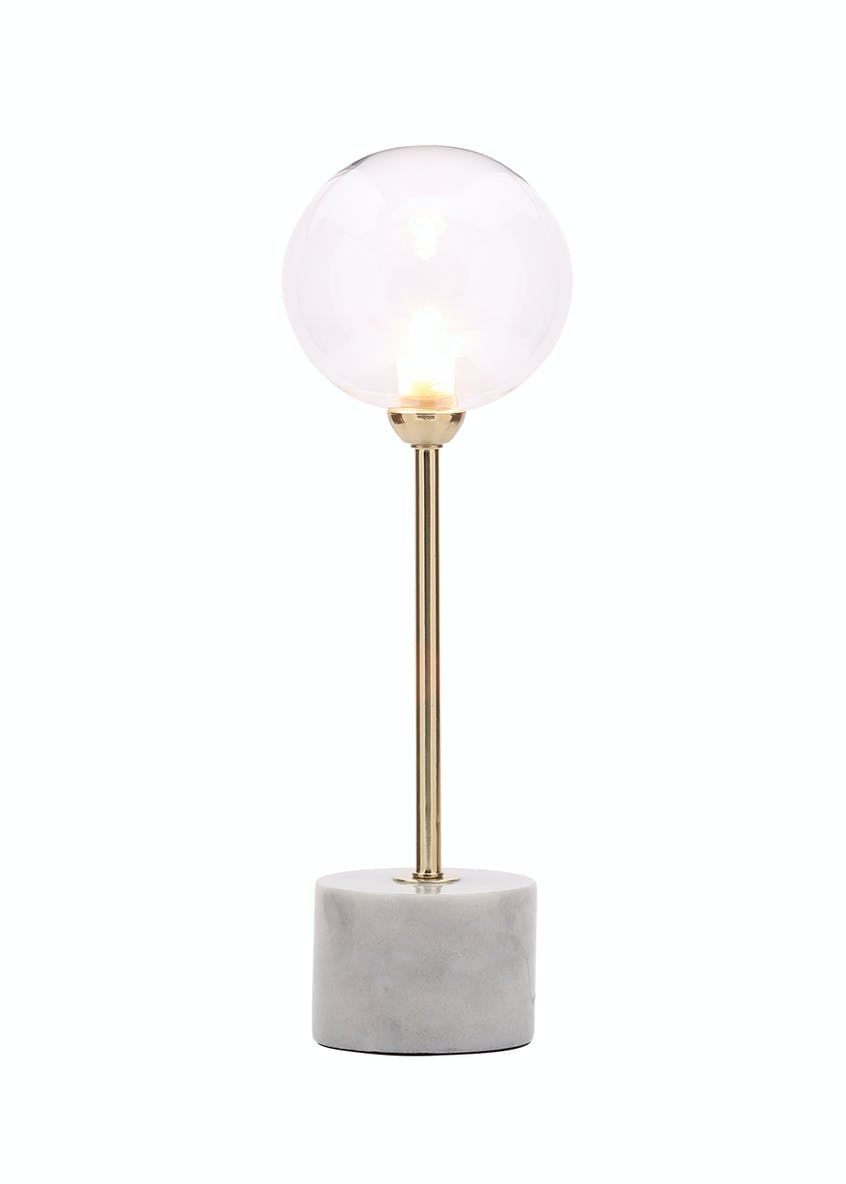 Peyton Marble Stick Table Lamp (H43cm x W13cm)