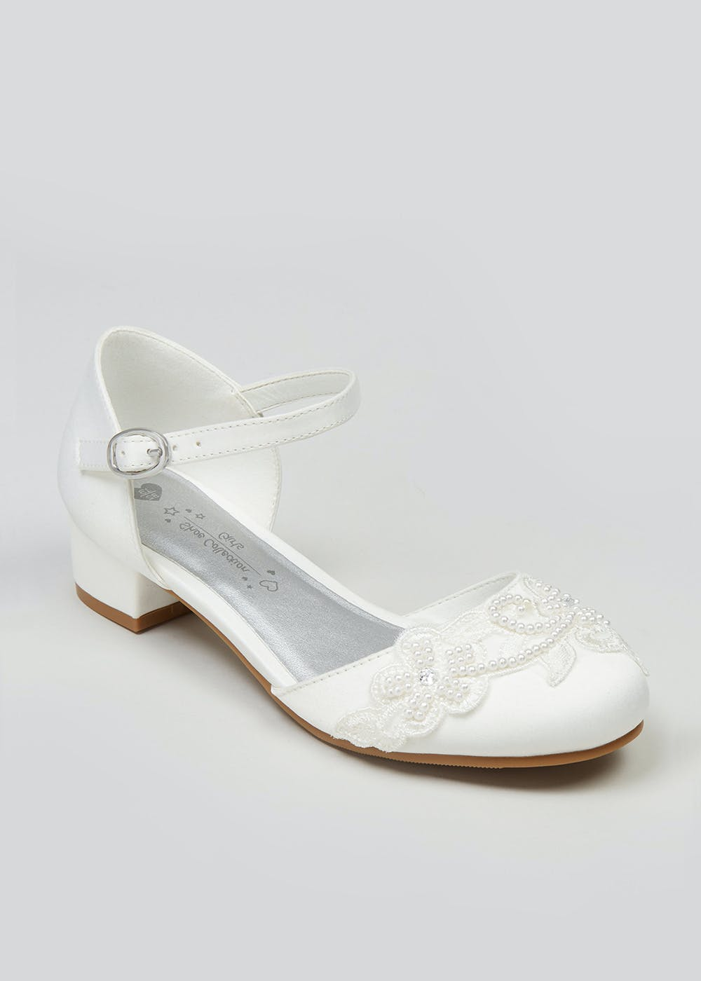 Girls Satin Mary Jane Occasion Shoes