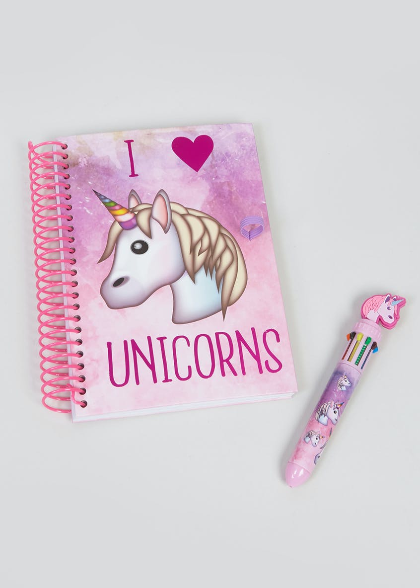 Unicorn Emoji Notebook & Pen (A5)