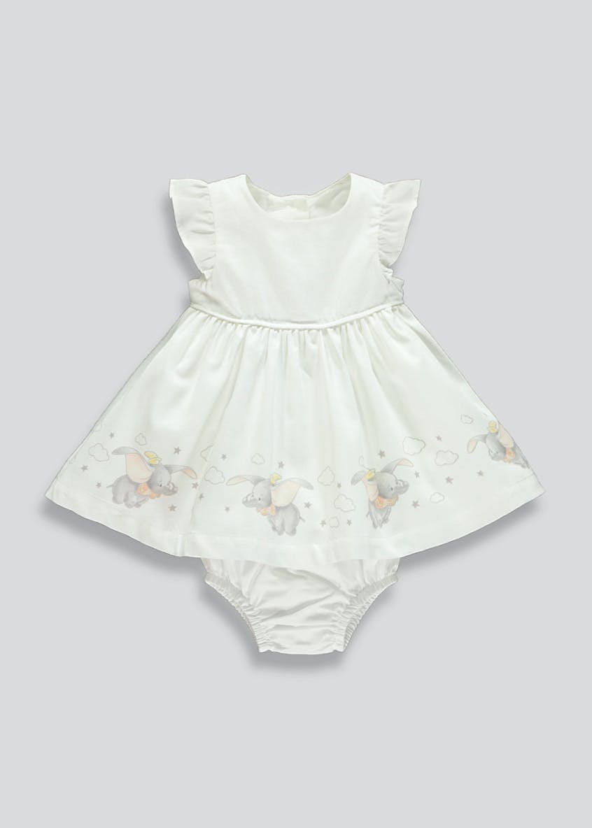 Girls Disney Dumbo Dress & Knickers Set (Newborn-18mths)