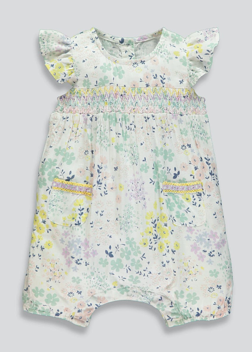 Girls Floral Romper (Newborn-18mths)