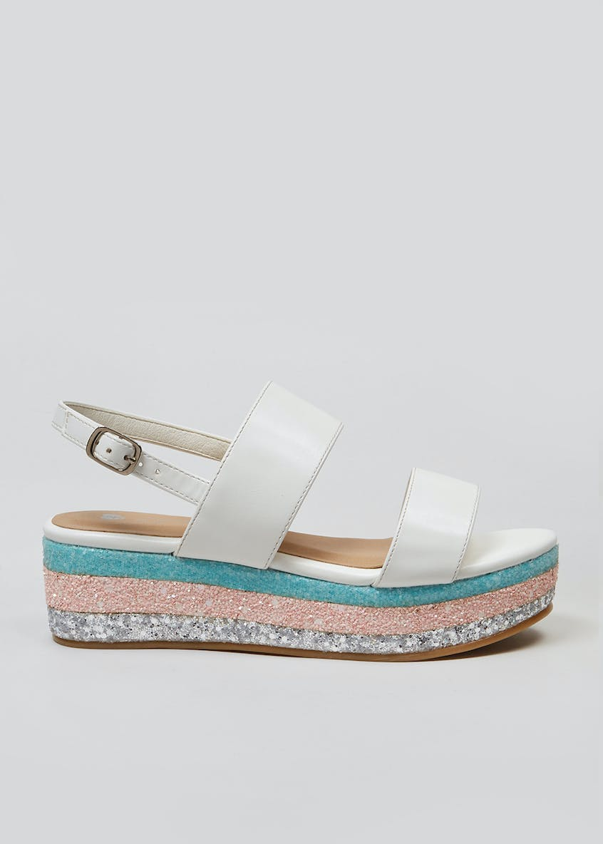 Girls Glitter Wedge Sandals (Younger 10-Older 5)